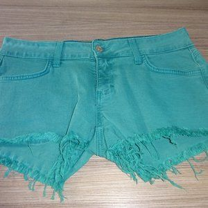 Siwy Camilla Cut-Off Shorts Turquoise Size 27